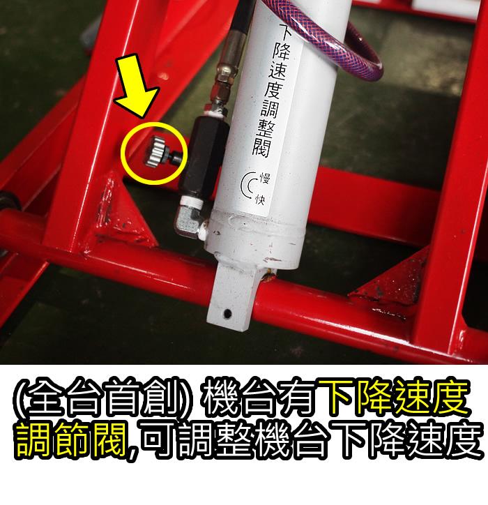 下降速度調節閥-福春機車升降台